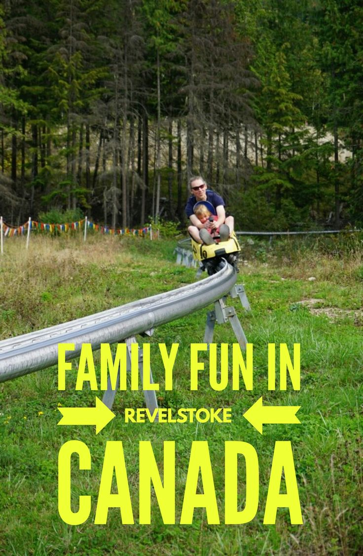 Family friendly fun on North America's only mountain coaster Revelstoke Canada