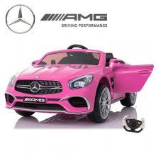 12V PINK sl65 mercedes battery powered ride on car for executive little ladies