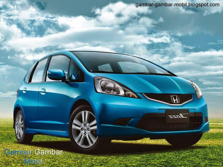 gambar mobil honda jazz warna biru