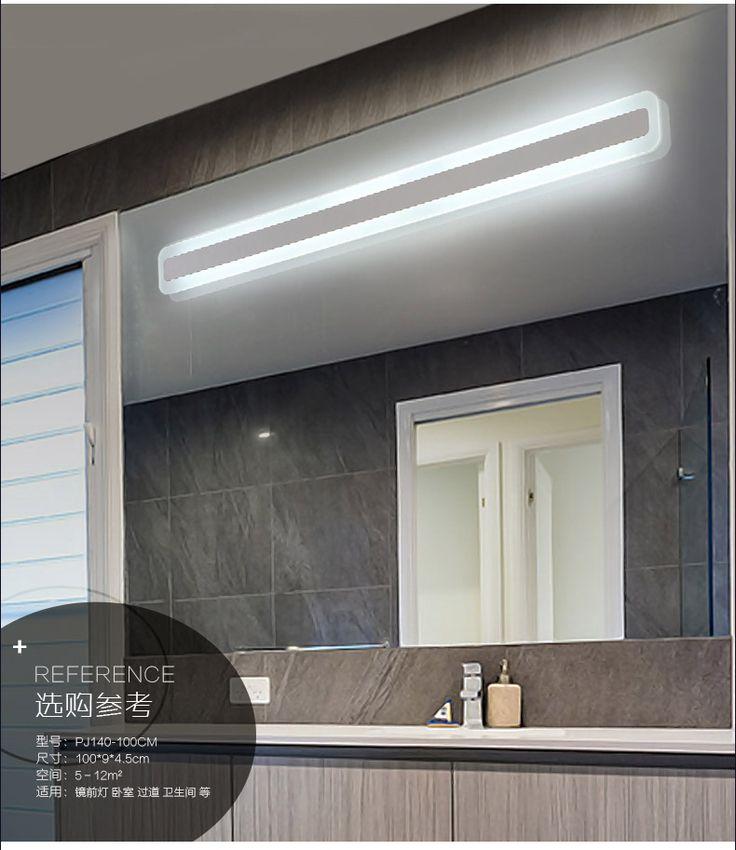 Минималистский современные зеркала ванной свет ванной настенный светильник светодиодные фонари зеркало для макияжа 1,2 метра воды противотуманные фары -tmall.com Lynx
