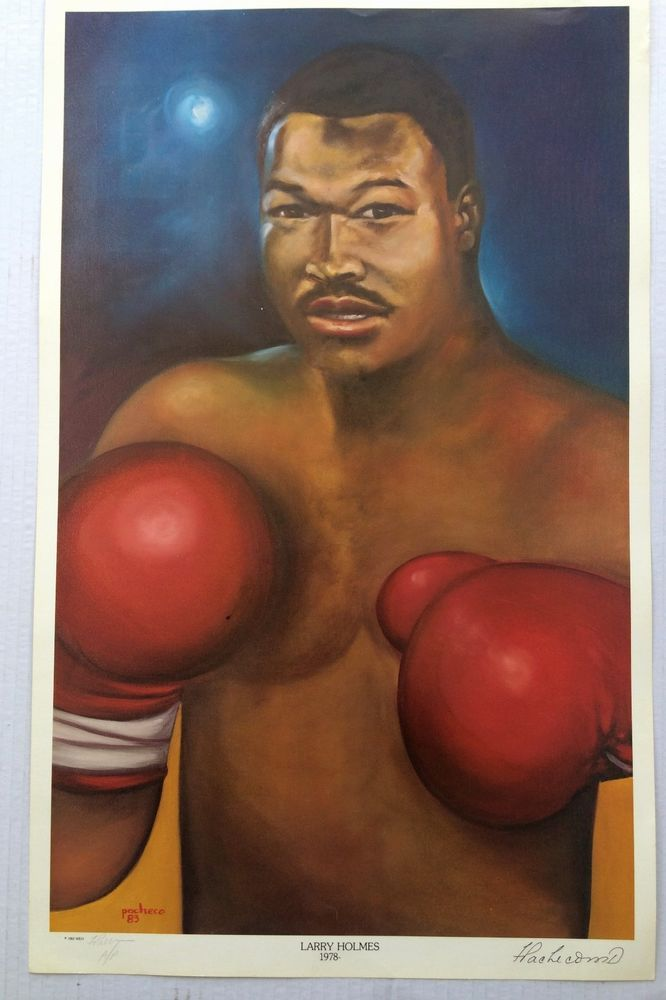 """Ferdie Pacheco""""Fight Doctor""""  LARRY HOLMES Signed AP #PopArt"""