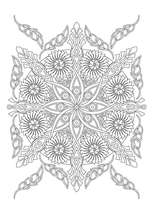 Griffonner Et Colorier Pour La Meditation Mandala Malen Anleitung Mandala Ausmalen Malbuch Vorlagen