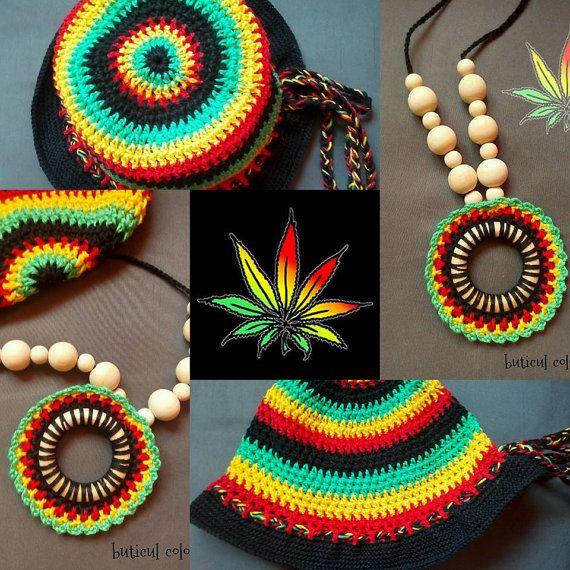Rasta kids hat crochet rasta hat summer hat by ButiculColorat