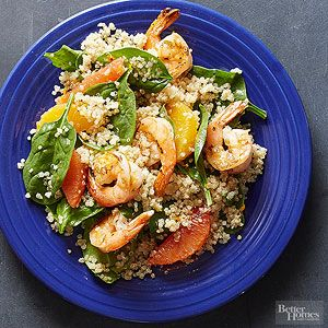 Shrimp and Quinoa Salad Oranges add bright citrus flavor to this easy ...