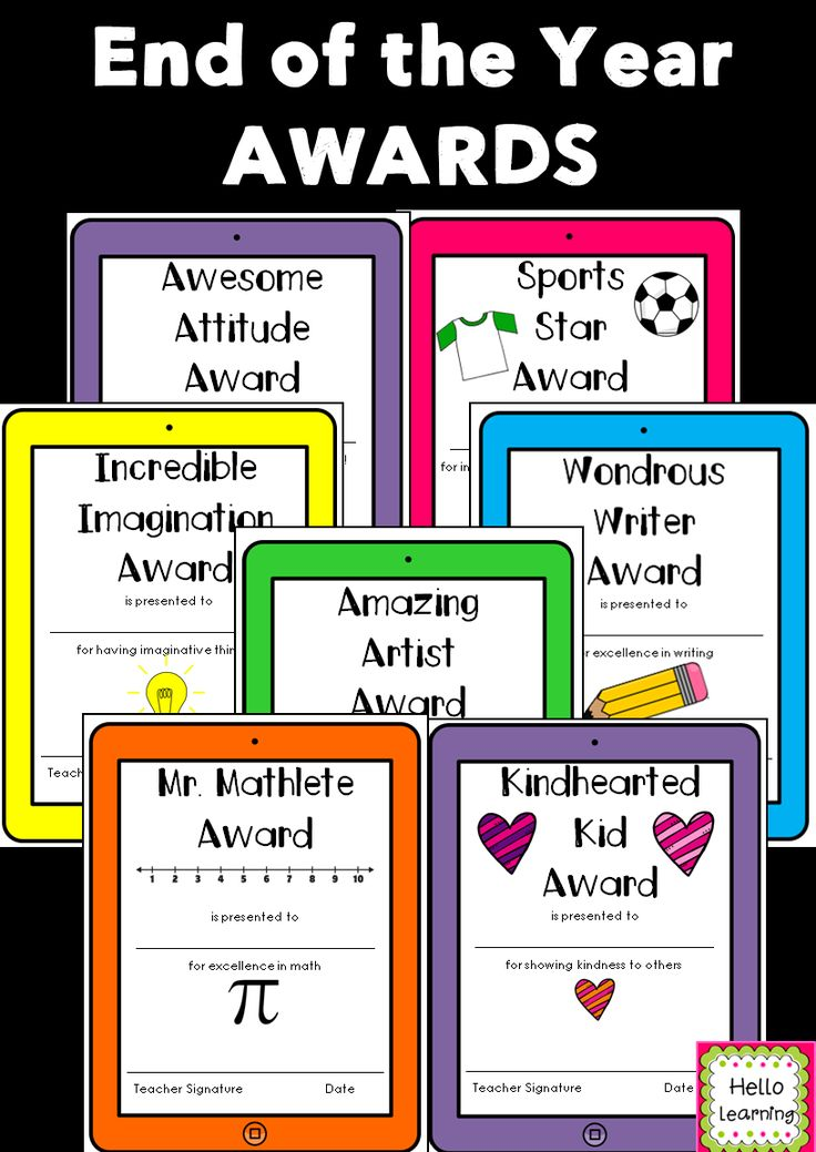 Classroom Award Ideas Elementary ~ End of the year awards set technology themed class