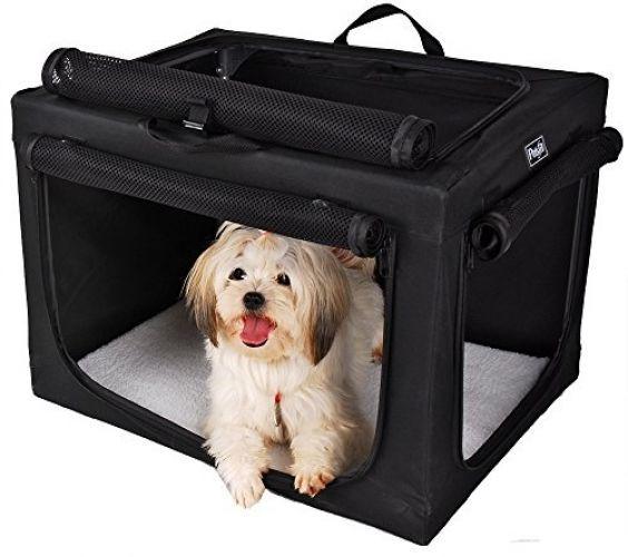 Travel Home Pet Small Dog Crate Kennel Portable Cage Indoor Outdoor Petsfit Door…