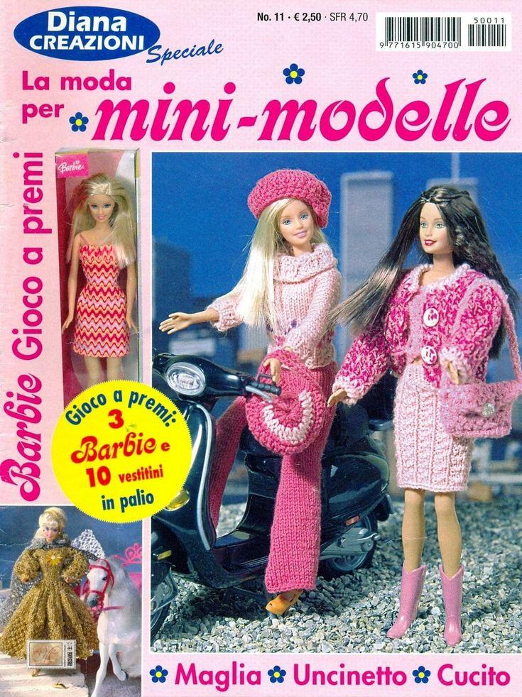 RECEITA TRICÔ FÁCIL   Revista Barbie Tricô e Crochê   Mini Modelos de roupas Tricô e Crochê para a boneca mais famosa do mundo           ...