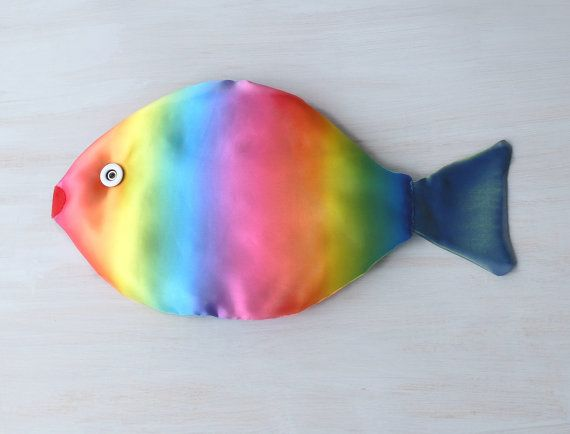Rainbow Fish pillow Kids room decor Nautical pillow by Florfanka