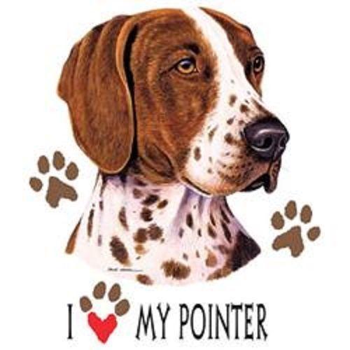 Love My Pointer Dog HEAT PRESS TRANSFER for T Shirt Sweatshirt Tote Fabric #846c #AB