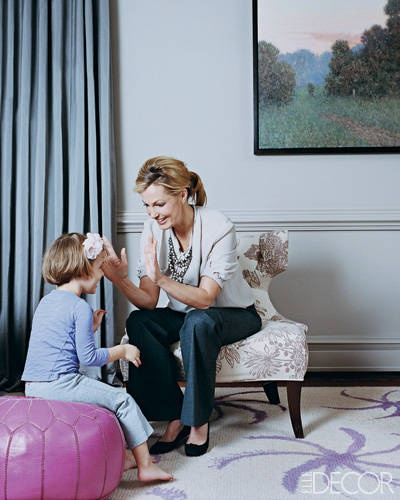 Actress-writer Ali Wentworth and her daughter Harper in the living room.
