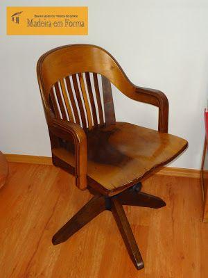 Restauração de Móveis de Época : Cadeira Cimo, giratória - restaurada