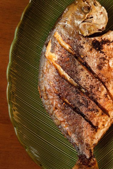pan fried fish with lemongrass. (sorry to all those people who get grossed out b…