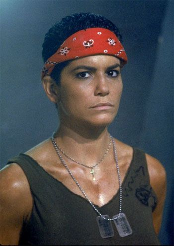 Pvt. J. Vasquez - Aliens 1986 The standard setter for seriously bad ass women. I wanted to BE private Vasquez when I grew up; one of my favorite characters EVER