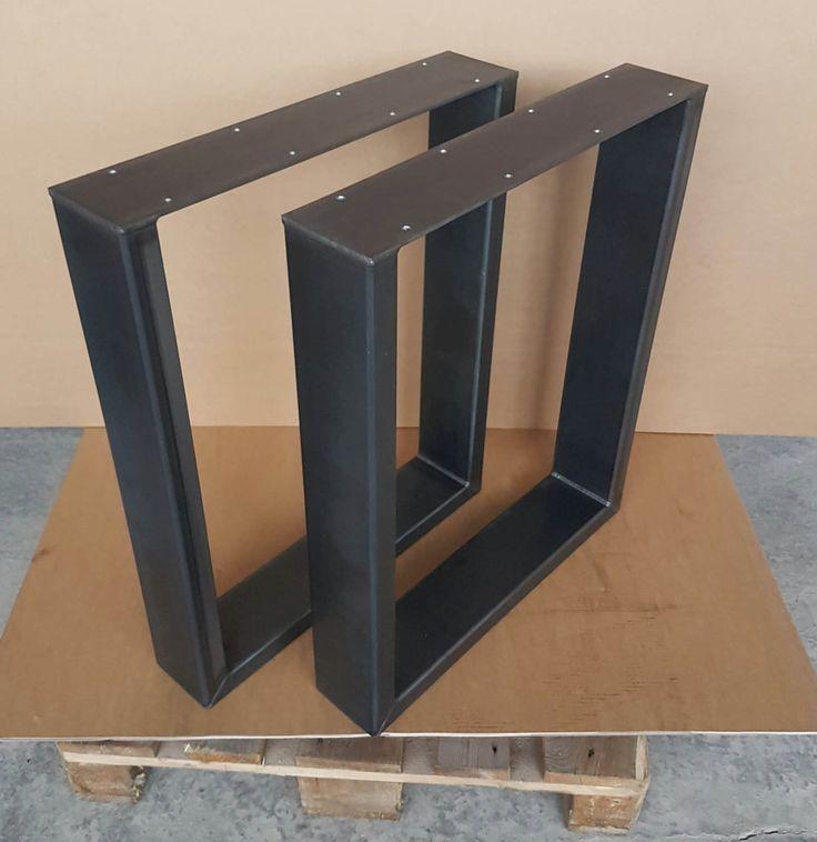 Tischbeine Tischfüße 1 Paar Rohstahl 73-60 cm Industrie Design 120-40 Tischgestell aus Metall von Steelinterieur auf Etsy