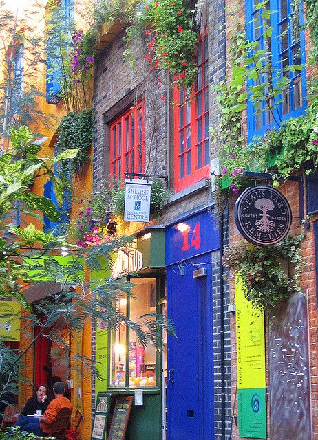 Colours of Neal's Yard in London, England (by estherase).: Colour, Neal Yard, Vibrant Colors, Places, Travel, House, London England, Covent Gardens, Shops Front
