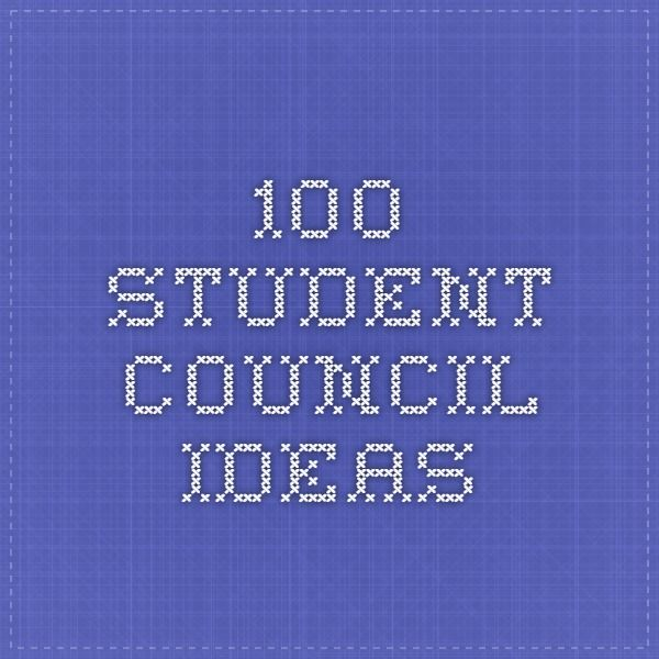 100 student council ideas