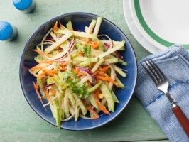 Chayote Slaw with Mango Vinaigrette : Recipes : Cooking Channel