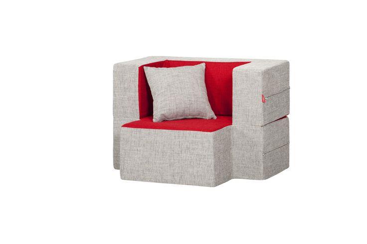 Mini-Tiramisu Modular Armchair / Colour: Poppy & Chilli  #modular #armchair #cool #comfort #creative #foam #colourful #young #ottoman