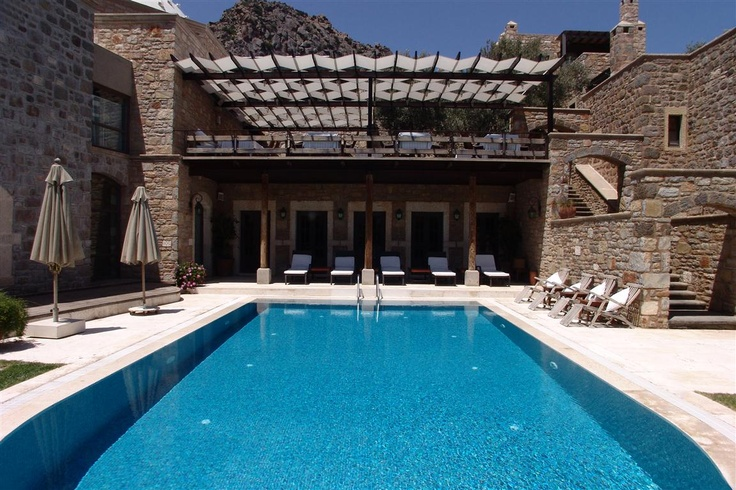 Göltürkbükü'nde bulunan Ada Hotel'in huzur veren havuzu… Bodrum, Turkey