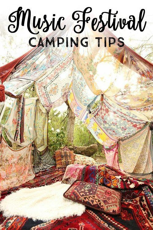 music festival camping tips!