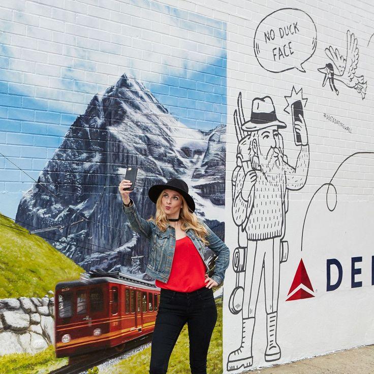 "Delta Airline เพ้นท์กำแพงเอาใจคนโสด ชอบ ""มโน"" อยู่เมืองเดียว ก็แอ๊บว่าเที่ยวทั่วโลกได้ - Brand Buffet"