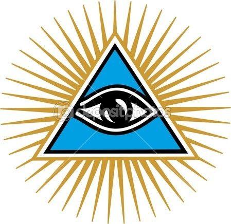 Olho da providência - olho que tudo vê de Deus — Ilustração de Stock #20986505