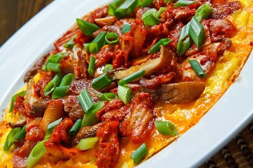 Kimchi, Bacon and Shiitake Mushroom Omelette | Recipe | Dinner, Wouldn ...