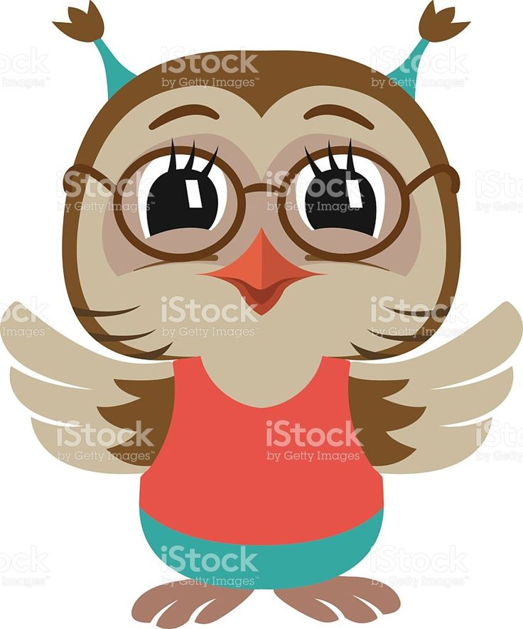Little cute owl baby. Vector Illustration. royalty-free stock vector art