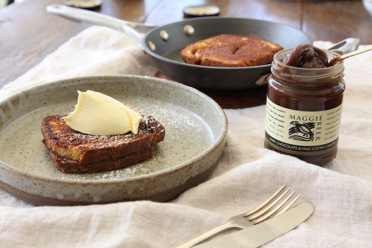 Brioche and Dark Chocolate and Vino Cotto Caramel Toastie - Maggie Beer
