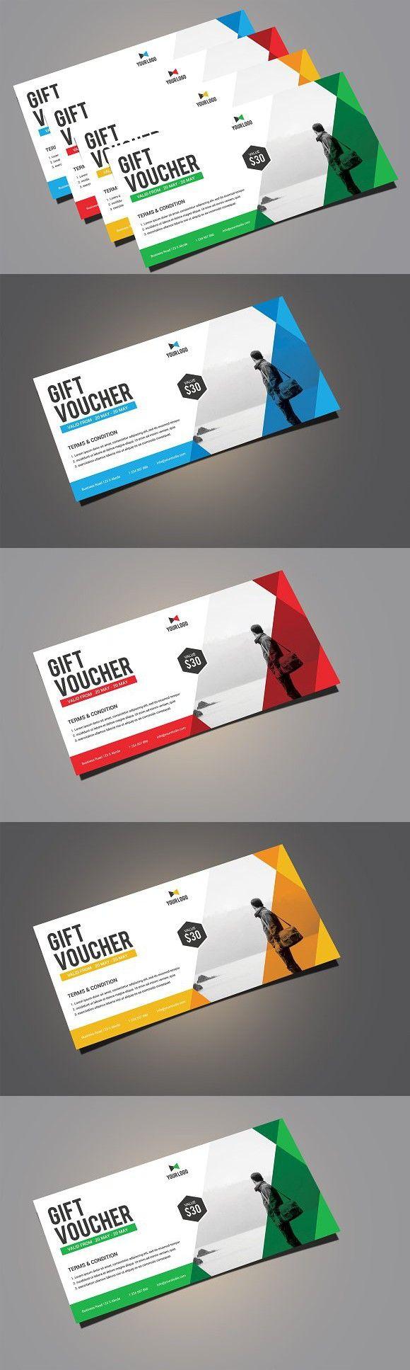 Gift Voucher. Creative Card Templates