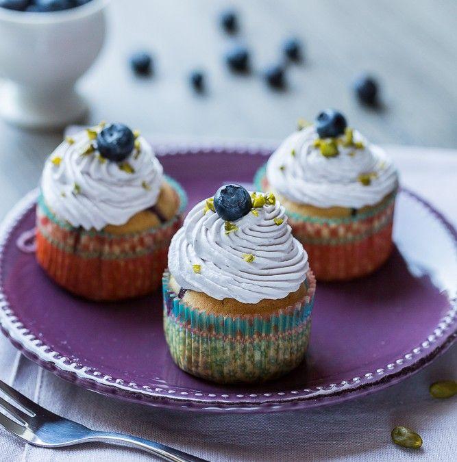 Cupcakes Myrtille & Noix de coco