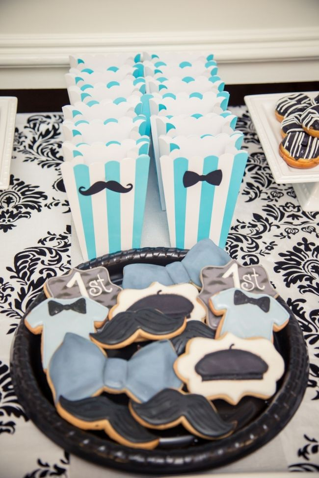 Boys Parisian Themed Birthday Party Food Cookie Ideas