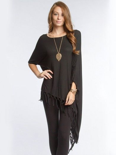 Assymetric Top With Fringe