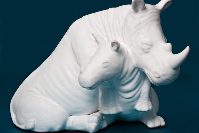 Nurturing Rhino and Calf  by ceramix on hellopretty.co.za