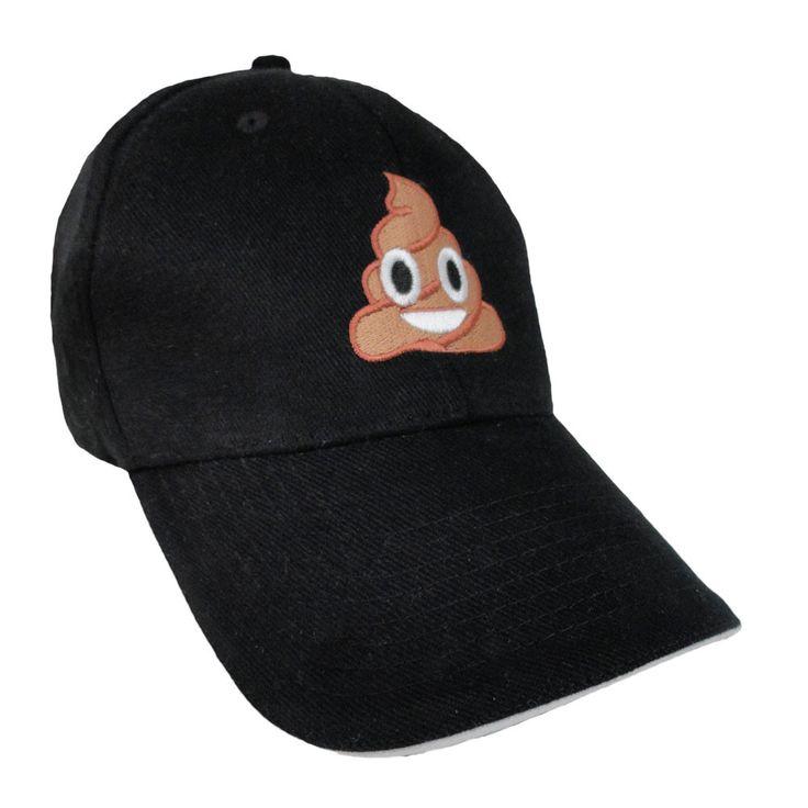 HAPPY POOP Emoji - Emoji Hats - Buy emoji online - LUCKY Emojis® Cap.