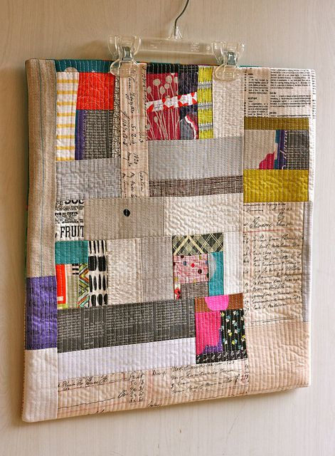 Love the use of text and the quilting  by One ShaBby ChiCk, via Flickr