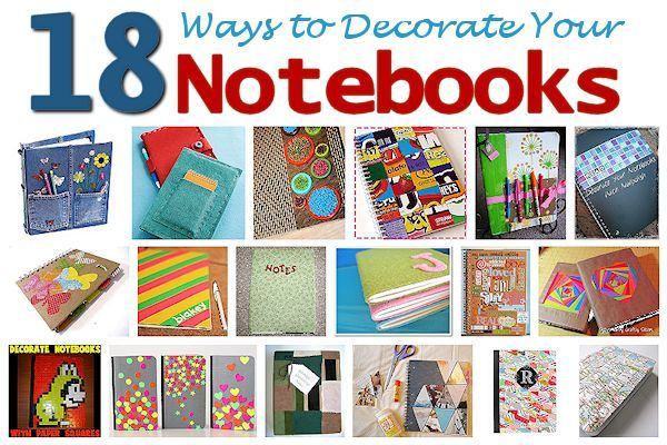 18 Ways to Decorate Your Notebooks | About Family Crafts