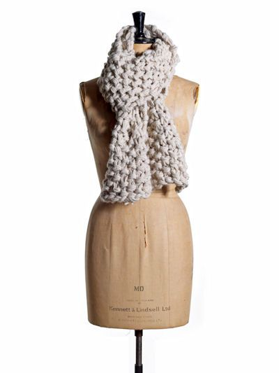 Alpaca Scarf Knitting Pattern: alpaca wool knitted scarf kit from TOFT