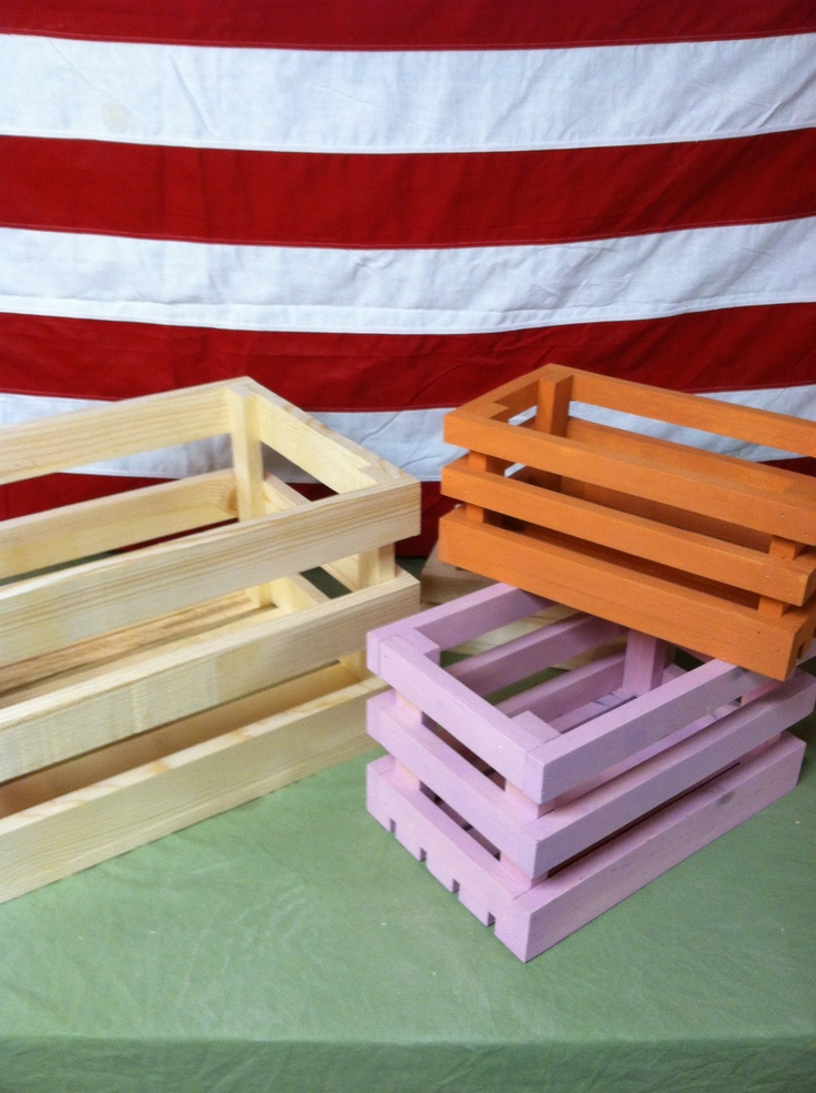 Small Wood Crates for Sale | Free Shipping | 14 Colors