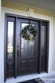 Image result for black front entry door with sidelights