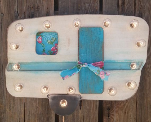 """18"""" Vintage Trailer/Camper Lighted Marquee, Wood Home Decor Travel Gypsy"""
