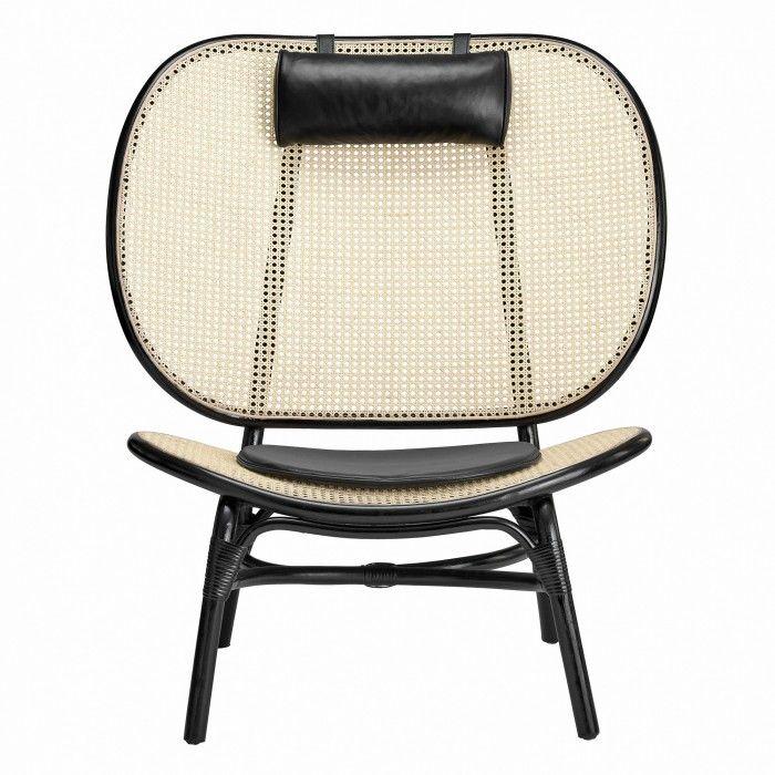 Fauteuil Lounge Nomad Noir Norr 11 En 2020 Fauteuil Osier Design De Table Fauteuil