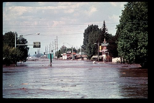 [IDAHO-L-0023] Teton Dam Flood - Rexburg by waterarchives, via Flickr