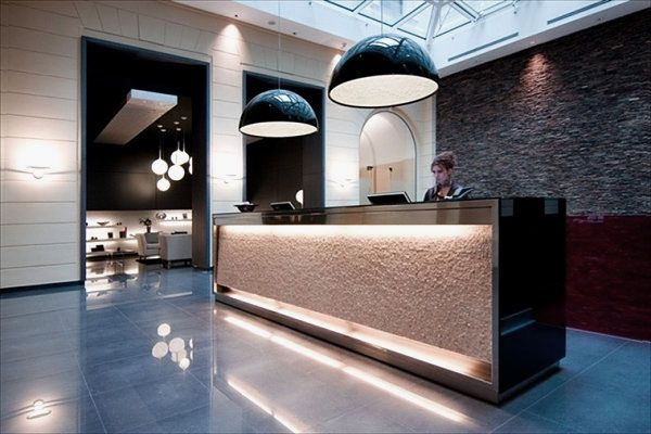 Dramatic Lighting Decorations in The Lobby of Hotel Palazzo Zichy