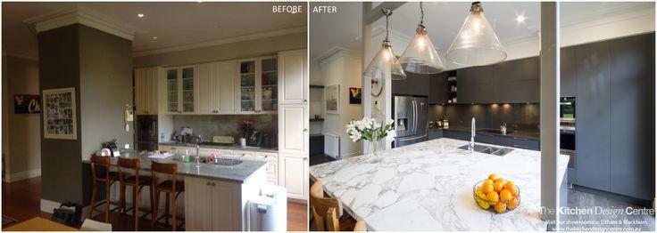 Before & After - Modern Dark Kitchen