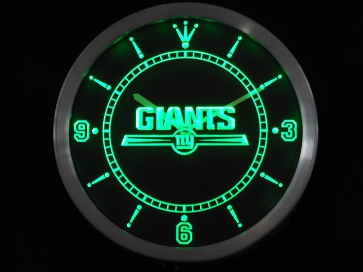New York Giants LED Neon Wall Clock