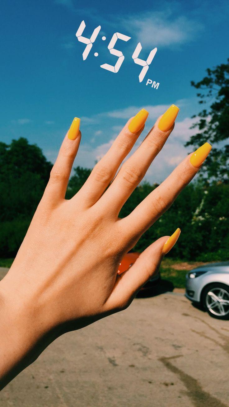Wie schön ist gelb – pin joyce – Nägel