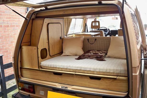 VW T25 Reimo Camper Van 1987 interior (2) by Stone Car Leasing, via Flickr