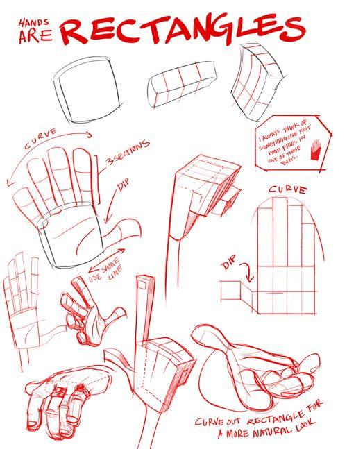 ctangular, flat, slightly flexible box. Even the fingers are re