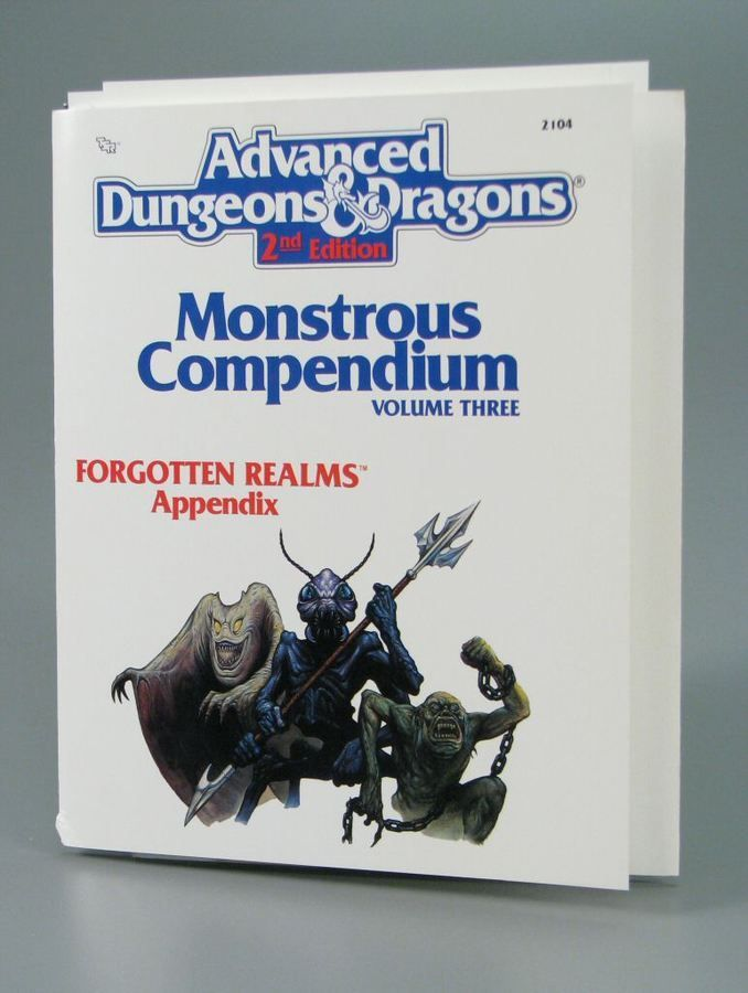 110.2589: Advanced Dungeons & Dragons 2nd Edition: Monstrous Compendium Volume III - Forgotton Realms Appendix | game | Role-Playing Games | Games | Online Collections | The Strong